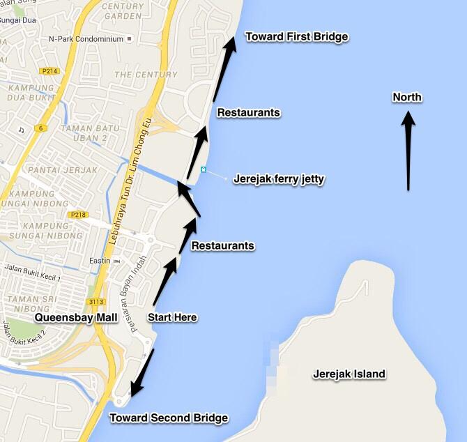 Queensbay map penang